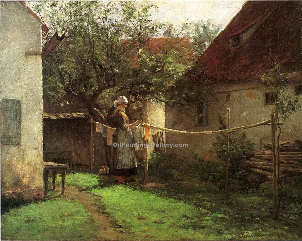"""Wash Day Bavaria"" by  John Ottis Adams"