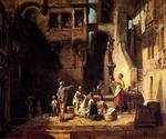 Washerinnen am Brunnen by  Carl Spitzweg (Painting ID: CO-1072-KA)