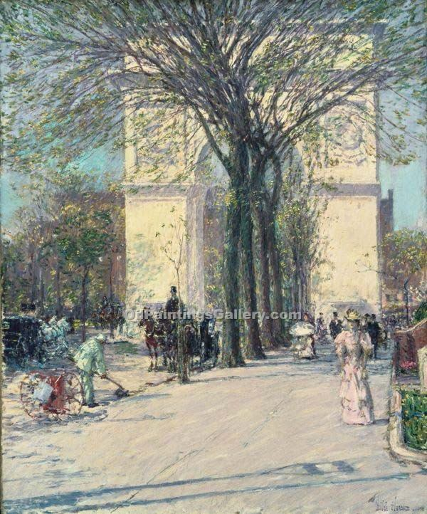 """Washington Arch Spring"" by  Frederick Childe Hassam"
