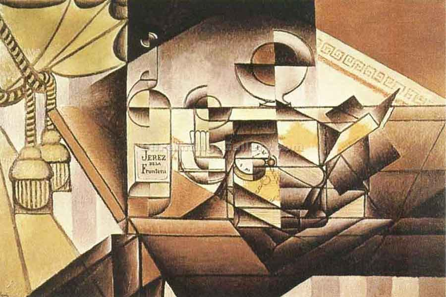 """Watch and Bottle"" by  Juan Gris"
