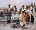 Water Carriers Venice by  Frank Duveneck (Painting ID: ER-0096-KA)