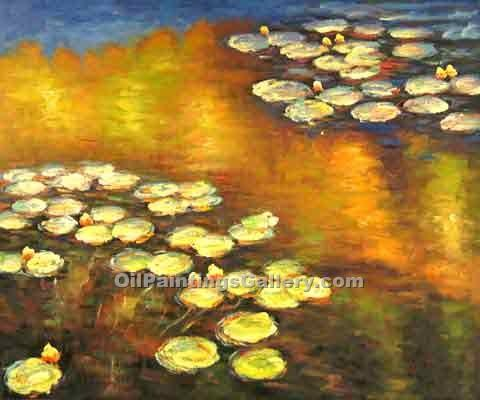 """Water Lilies 14"" by  Claude Monet"