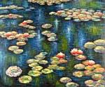 Water Lilies 15 by  Claude Monet (Painting ID: MO-1015-KA)