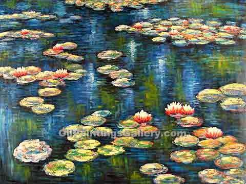 """Water Lilies 15"" by  Claude Monet"