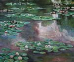 Water Lilies 22 by  Claude Monet (Painting ID: MO-1022-KA)