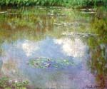 Water Lilies Clouds by  Claude Monet (Painting ID: MO-1018-KA)