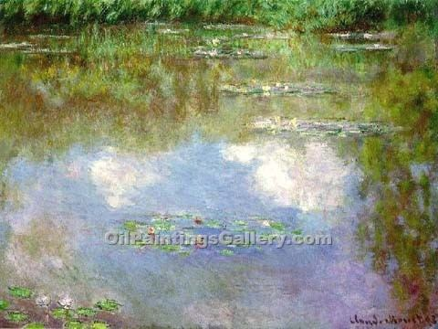 """Water Lilies Clouds"" by  Claude Monet"