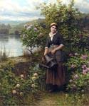 Watering the Garden by  Daniel Ridgway Knight (Painting ID: EI-0902-KA)