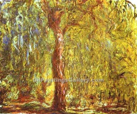 """Weeping Willow"" by  Claude Monet"