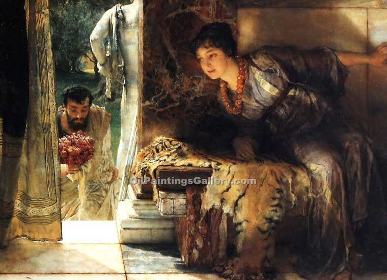 """Welcome Footsteps"" by  Sir Lawrence Alma Tadema"