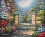 Welcome Gate 51 Oil Painting (ID: LA-4351-A)