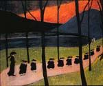 Werefkin, The Red Tree by  Marianne Von Werefkin (Painting ID: EI-0370-KA)