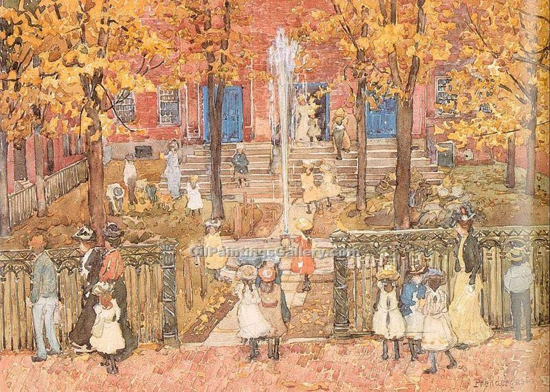"""West Church, Boston"" by  Maurice Brazil Prendergast"