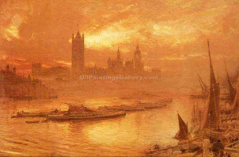 """Westminister London"" by  Albert Goodwin"