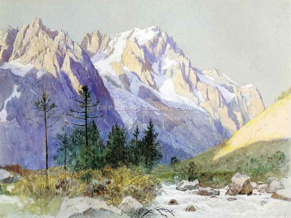 """Wetterhorn from Grindelwald, Switzerland"" by  William Stanley Haseltine"