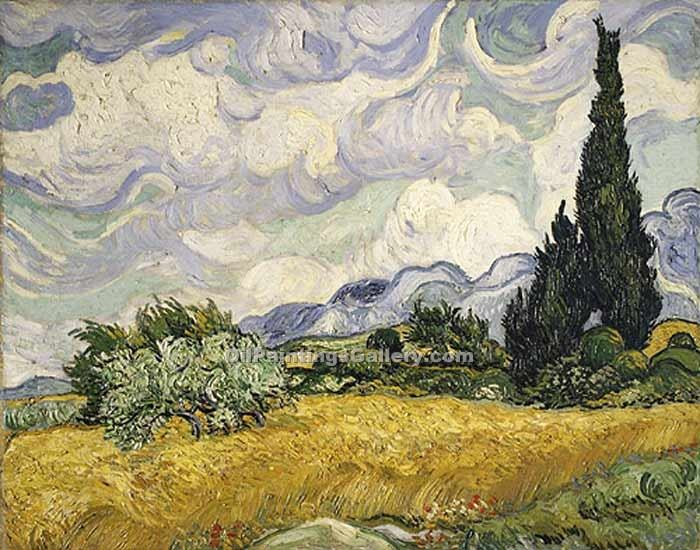 """Wheat Field with Cypress"" by  Vincent Van Gogh"