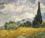 Wheat Field with Cypress by  Vincent Van Gogh (Painting ID: VG-0214-KA)