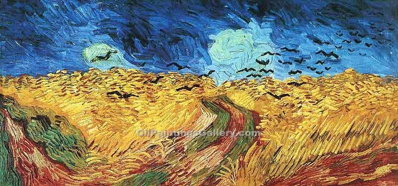 """Wheatfield with Crows"" by  Vincent Van Gogh"