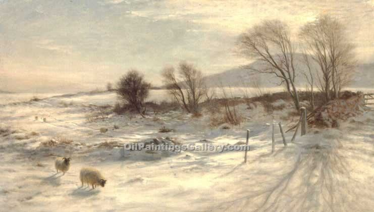 """When Snow The Pasture Sheets"" by  Joseph Farquharson"