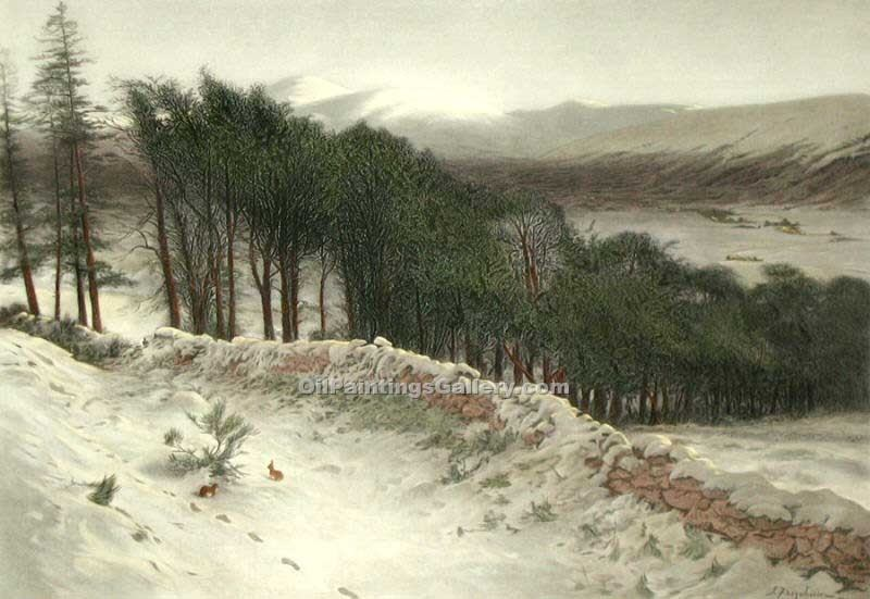 """Where Winter Holds its Sway"" by  Joseph Farquharson"