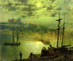 Whitby from Scotch Head, North Yorkshire by  John Atkinson Grimshaw (Painting ID: LA-0230-KA)