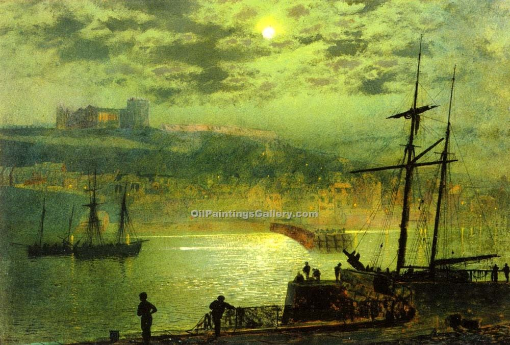 """Whitby from Scotch Head, North Yorkshire"" by  John Atkinson Grimshaw"