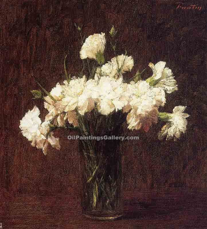 """White Carnations"" by  Henri Fantin Latour"