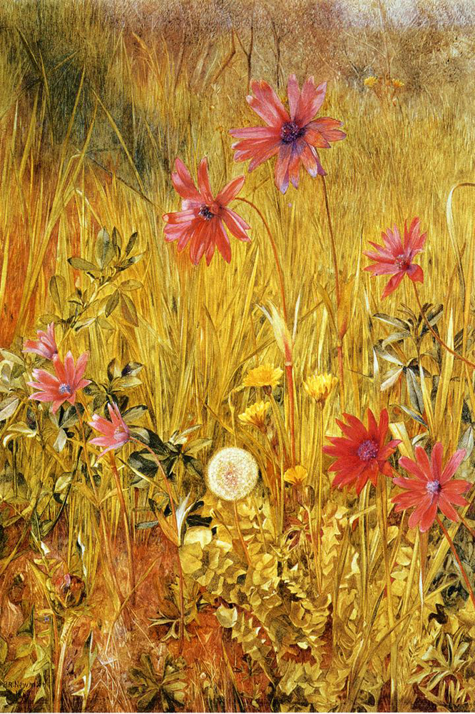 """Wildflowers"" by  Henry Roderick Newman"