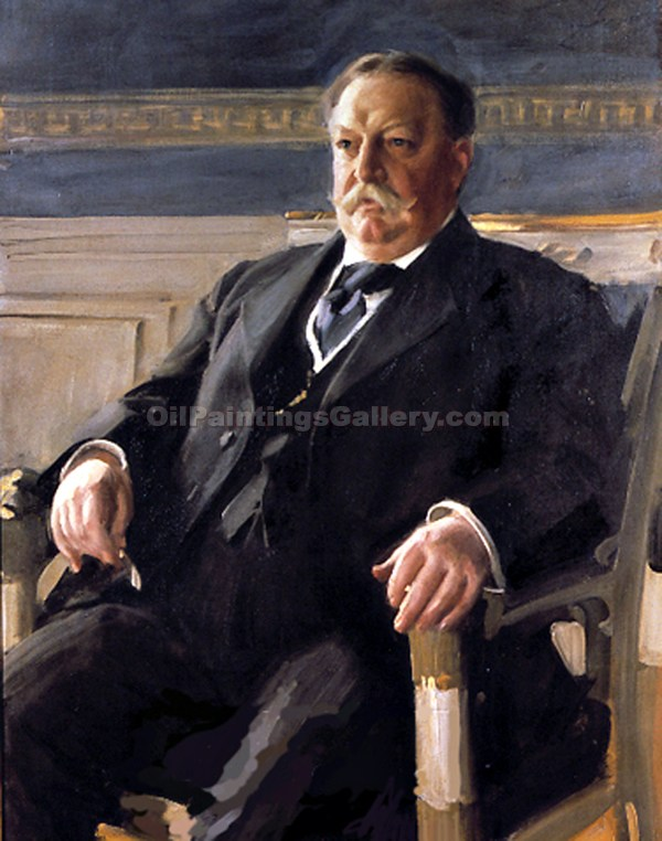 """William Howard Taft, 27th President, Painted by Anders Zorn"""