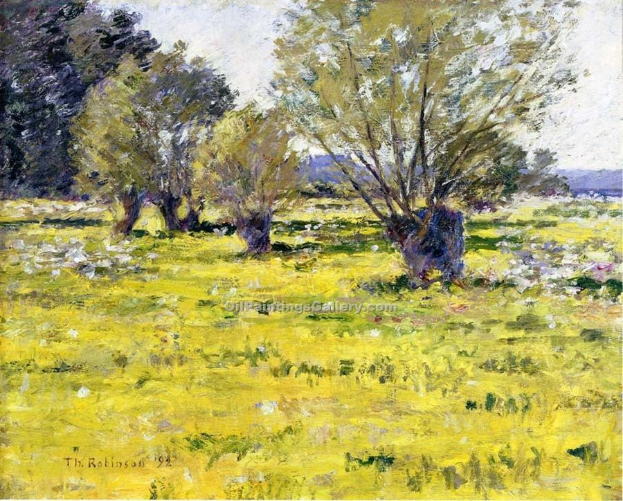 """Willows and Wildflowers"" by  Theodore Robinson"