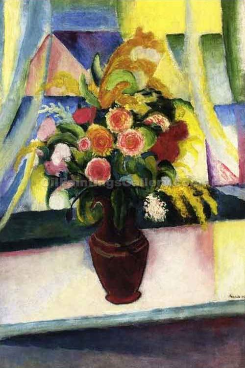 """Window Still Life"" by  August Macke"