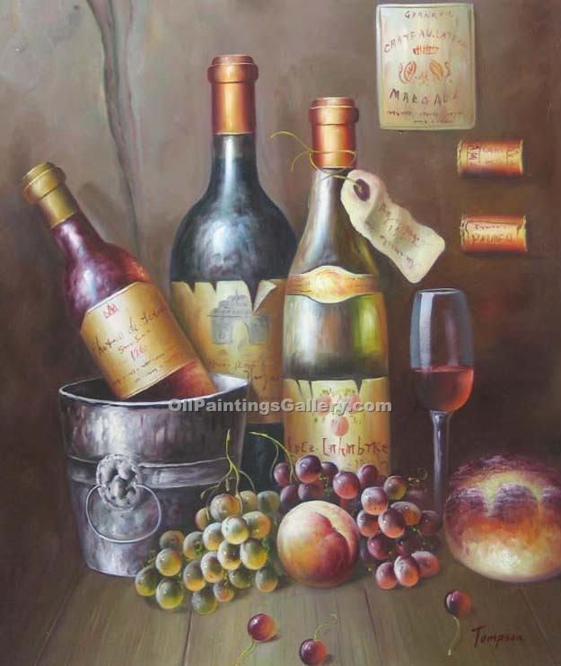 Object moved for Painting of a wine bottle
