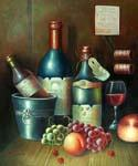 Wine Bottles 53  (Painting ID: SL-1253-A)