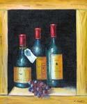 Wine and Grapes 25  (Painting ID: SL-1225-A)
