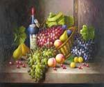 Wine and Grapes 38  (Painting ID: SL-1238-KA)