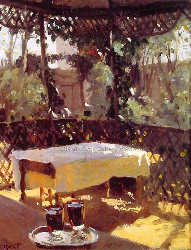 """Wineglasses"" by  John Singer Sargent"