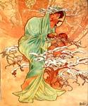 Winter 1896 by  Alphonse Maria Mucha (Painting ID: CL-2003-KA)