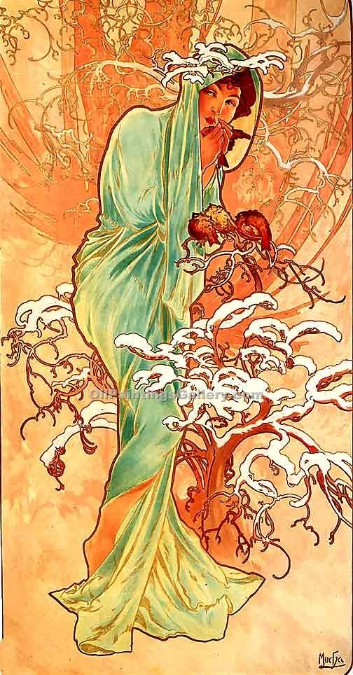 """Winter 1896"" by  Alphonse Maria Mucha"