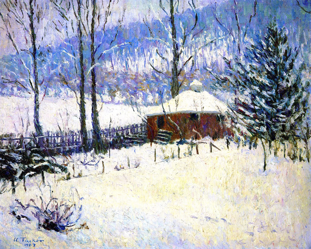Winter At Portland by Allen Tucker | Arts And Paintings - Oil Paintings Gallery
