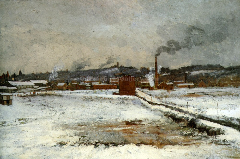 """Winter Landscape 27"" by  John Twachtman"