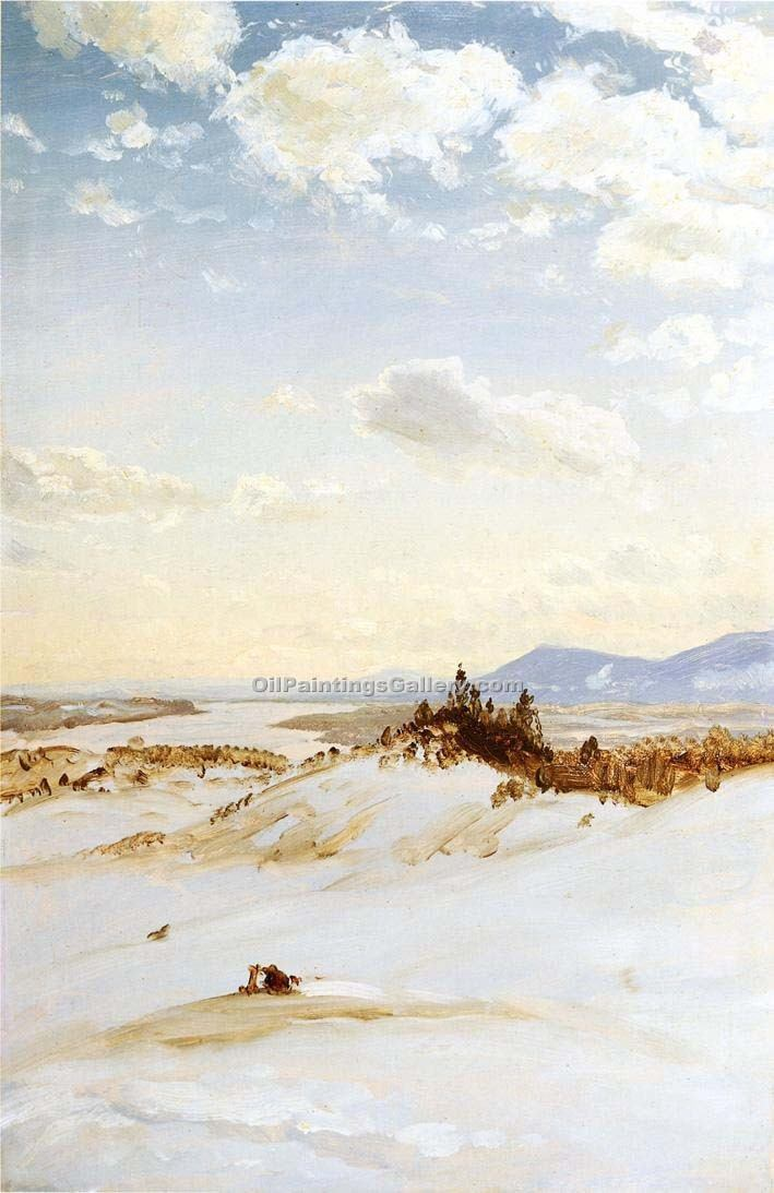 """Winter Scene Olana"" by  Frederic Edwin Church"