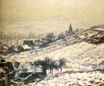 Winter at Giverny by  Claude Monet (Painting ID: MO-1265-KA)