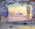 Wisteria Mt. Fuji by  Marianne North (Painting ID: LA-3266-KA)