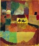 With-Two-Dromedaries-and-a-Donkey by  Paul Klee (Painting ID: AK-0417-KA)