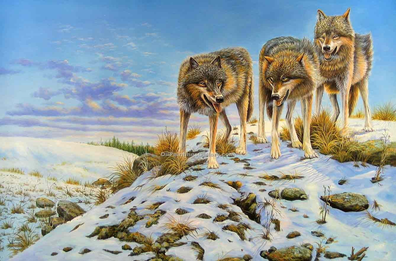 """Wolves in Snow"""
