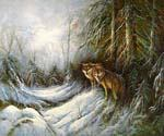 Wolves  (Painting ID: AN-1293-KA)