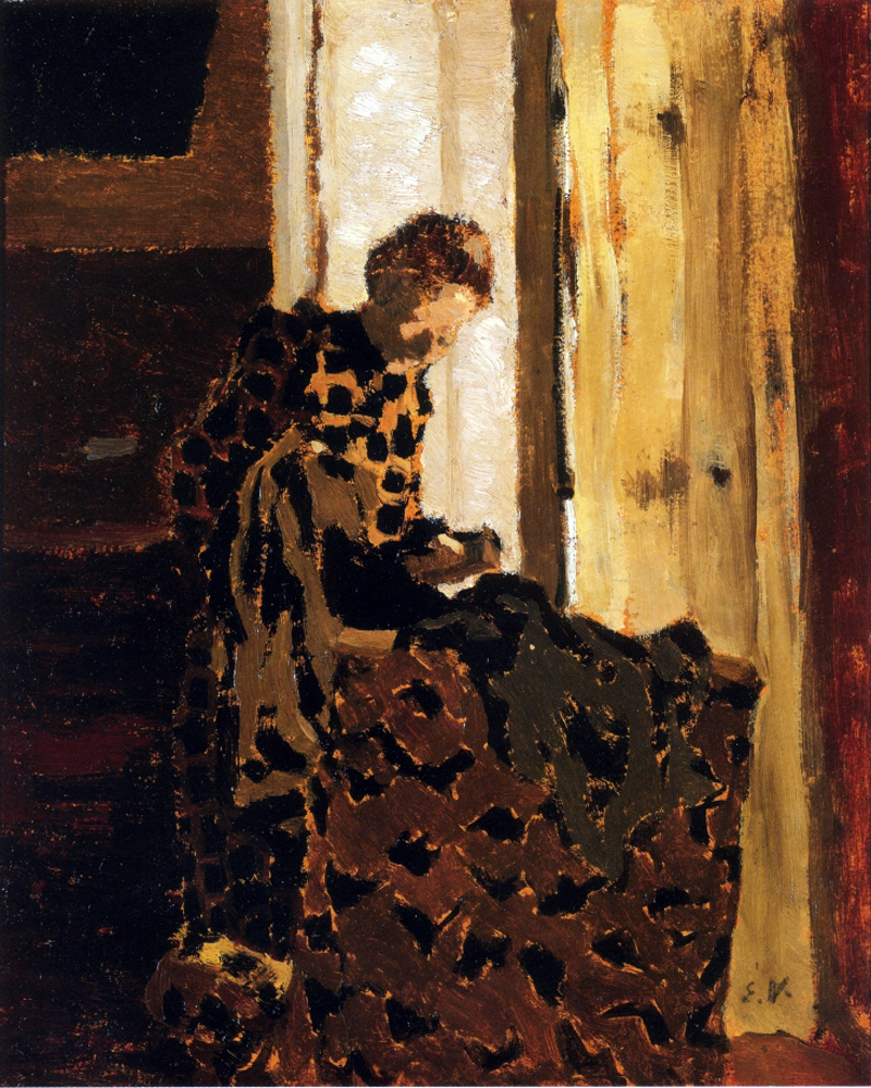 Woman Brushing a Garment by Edouard Vuillard | Contemporary Abstract Artists - Oil Paintings Gallery