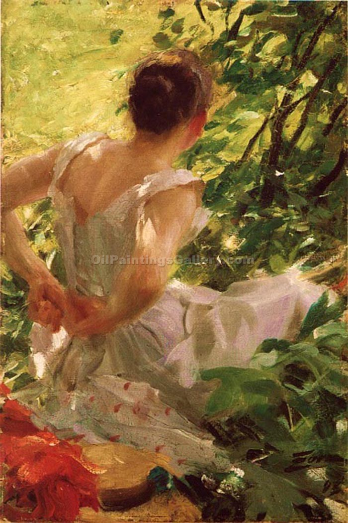 """Woman Dressing 12"" by  Anders Zorn"
