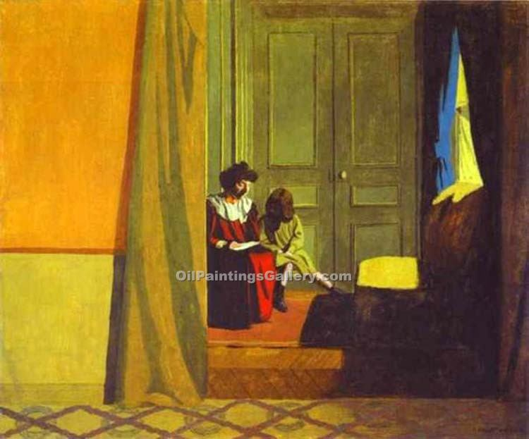"""Woman Reading to a Small Girl"" by  Felix Vallotton"