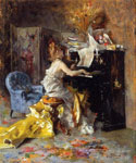 Woman at a Piano by  Giovanni Boldini (Painting ID: ED-0485-KA)
